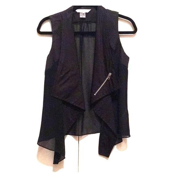 Image result for peter nygard black vest with sheer back